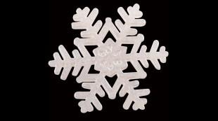 20 Cristaux de neige en sucre, Ø 6,2 cm, argent pour une pièce montée dingue!    sur http://www.pcb-creation.com