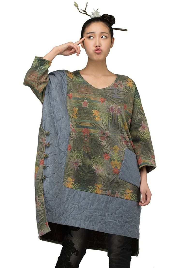 JIQIUGUER Womens Ethnic Plus Size T-shirts V-Neck Batwing Tops Tunics at Amazon Women's Clothing store:
