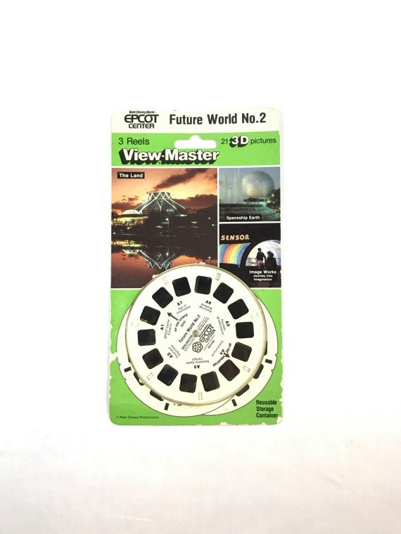 SEALED View-Master 3 Reel Set EPCOT Center 3D: Future by RetroCot