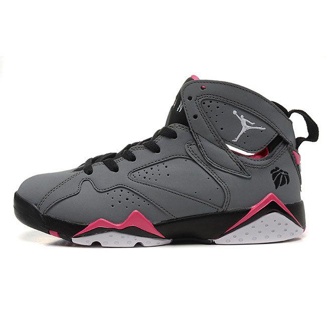 1e5694af6235c Air Jordan 7 (VII) Retro Valentine s Day Grey Pink Woman s Shoe ...