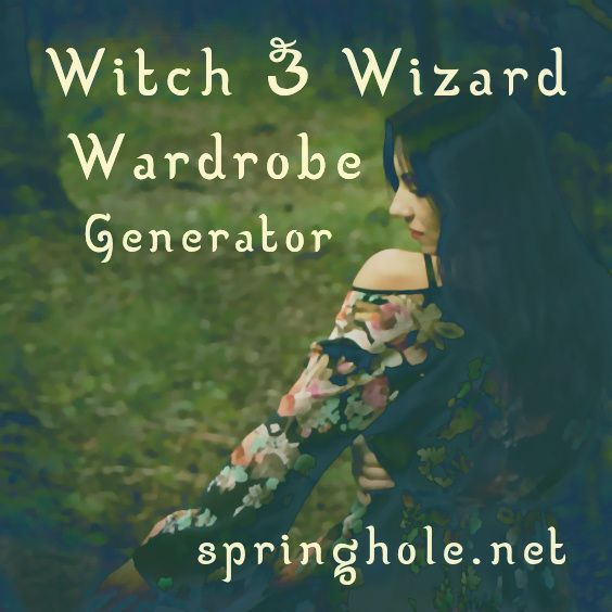 Witch & Wizard Outfit Generator - generate random outfit ideas for your magical characters.
