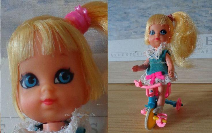 Vintage Liddle Kiddle Doll *Skediddle Suki #3767* w/ Tricycle ~ Adorable