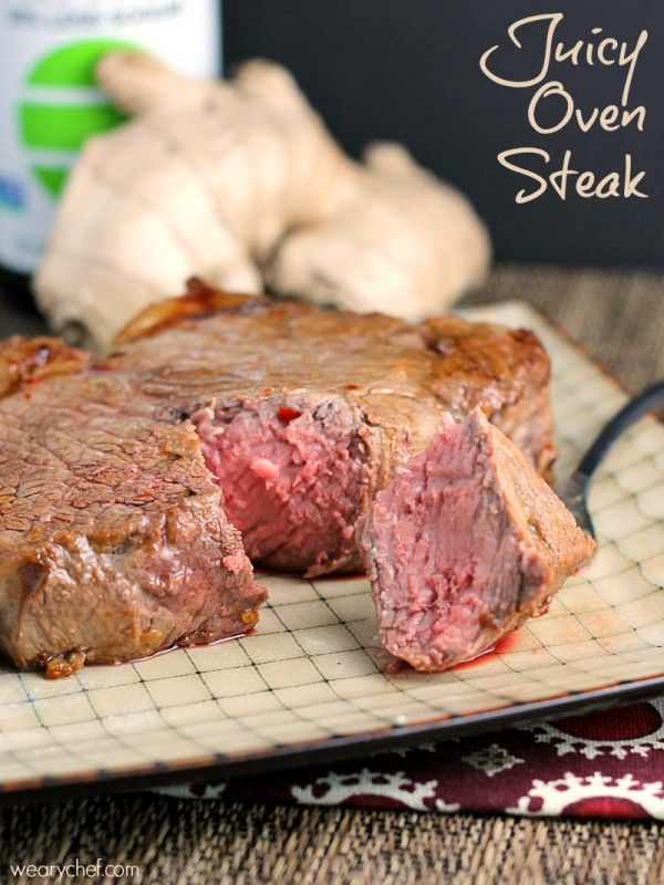 Juicy Oven Steak - Cook thick cuts to perfection with this easy skillet to oven technique!