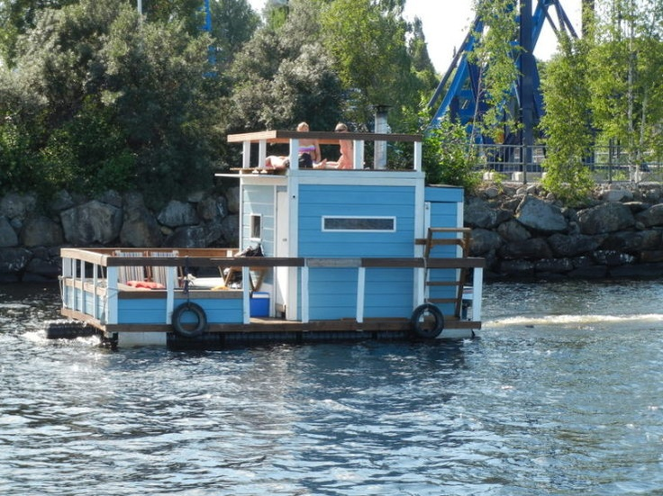 Floating Sauna, Tampere Finland