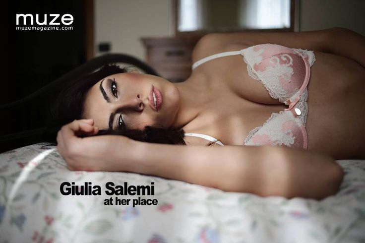 """Another in our beautiful series of """"At Her Place"""" editorials. This one featuring Italian model Giulia Salemi and photographed by Fabio Pregnolato.  #models #lingerie #sexy #beautiful #women #muzemagazine #girls #beautiful"""