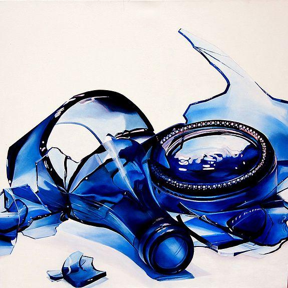 La bouteille bleue