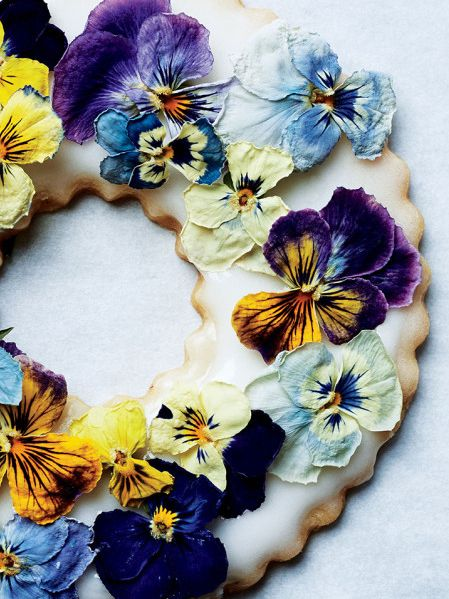 Edible flowers make these lavender shortbread cookies extra special.