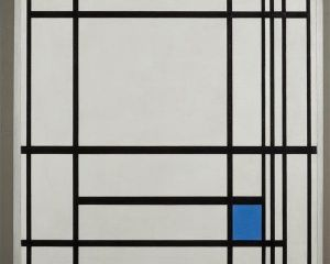 Composition de lignes et couleur: III (Compositie met lijnen en met kleur: III)
