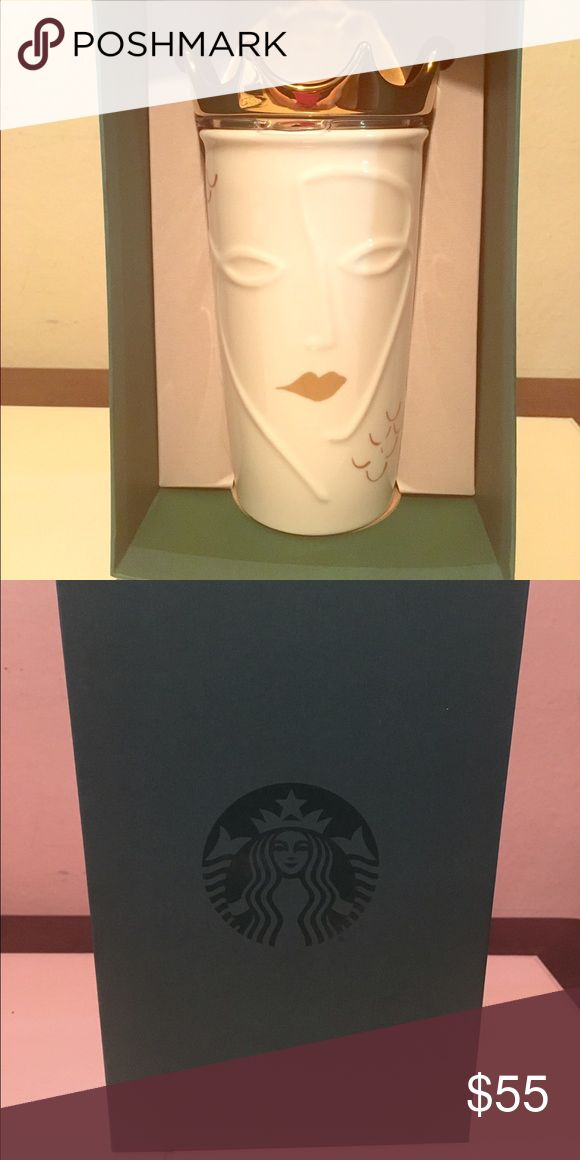 Starbucks 2016 siren removable crown travel mug BRAND NEW and limited edition Starbucks 2016 siren with removable gold crown travel mug. This is sold out online and in stores everywhere! This will be shipped with bubble wrap to prevent any damage in shipping. Other