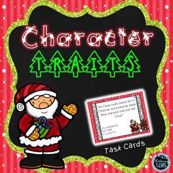 Christmas Task Cards - Character Traits