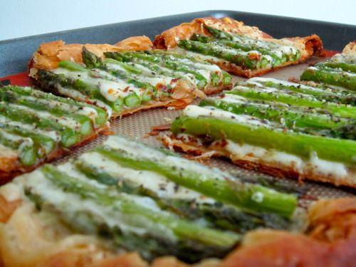 Asparagus and Gruyere Tart (adapted from Full Fork Ahead): Yields 6 ...