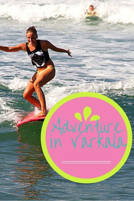 """Varkala is up on a cliff and kind of reminds me of Vagator in Goa. It's a huge tourist destination for Indians and foreigners alike, and it's chilled out enough to swim in a bikini, wear dresses, and drink at the bars """"special tea"""" since no one has alcohol licenses."""