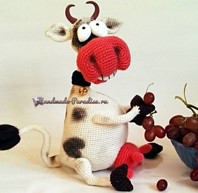 Feliz gancho de vaca.  Amigurumi (3)