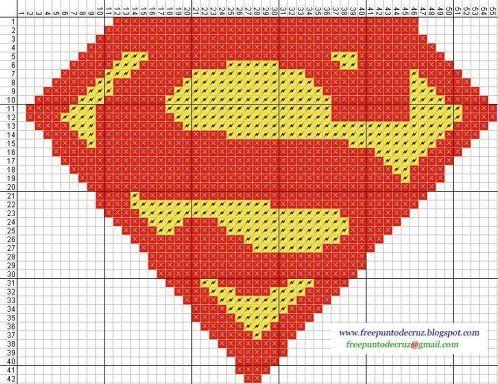 superman punto cruz | Aprender manualidades es facilisimo.com