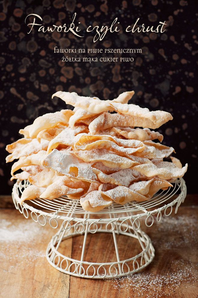 Faworki | Kwestia Smaku - Chrusty - fried pastry twists dusted with icing sugar