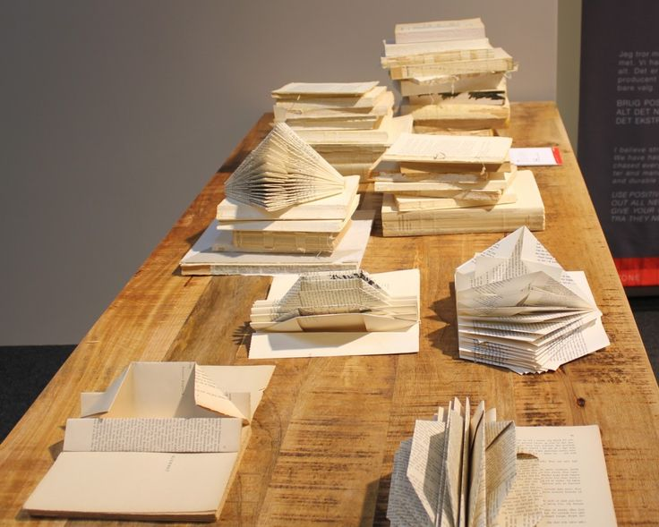 Foldede gamle bøger