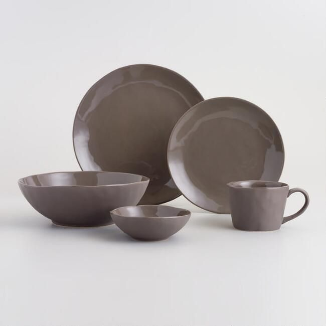 Crafted of stoneware with a charcoal matte exterior and a glossy interior our modern Asian-inspired plates add sophistication to any table setting. & 49 best Dinnerware images on Pinterest | Dinnerware sets Dish ...