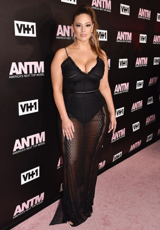 Ashley Graham at the ANTM premiere party