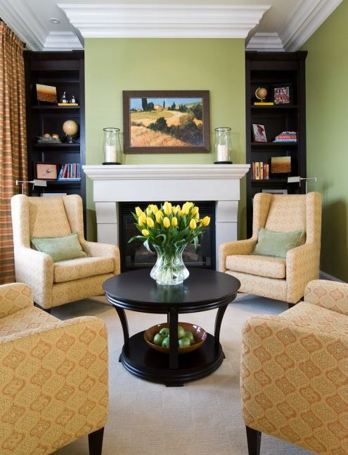 Small Living Room Arrangement | Small Living Rooms Ideas – classic arrangement of four armchairs ...