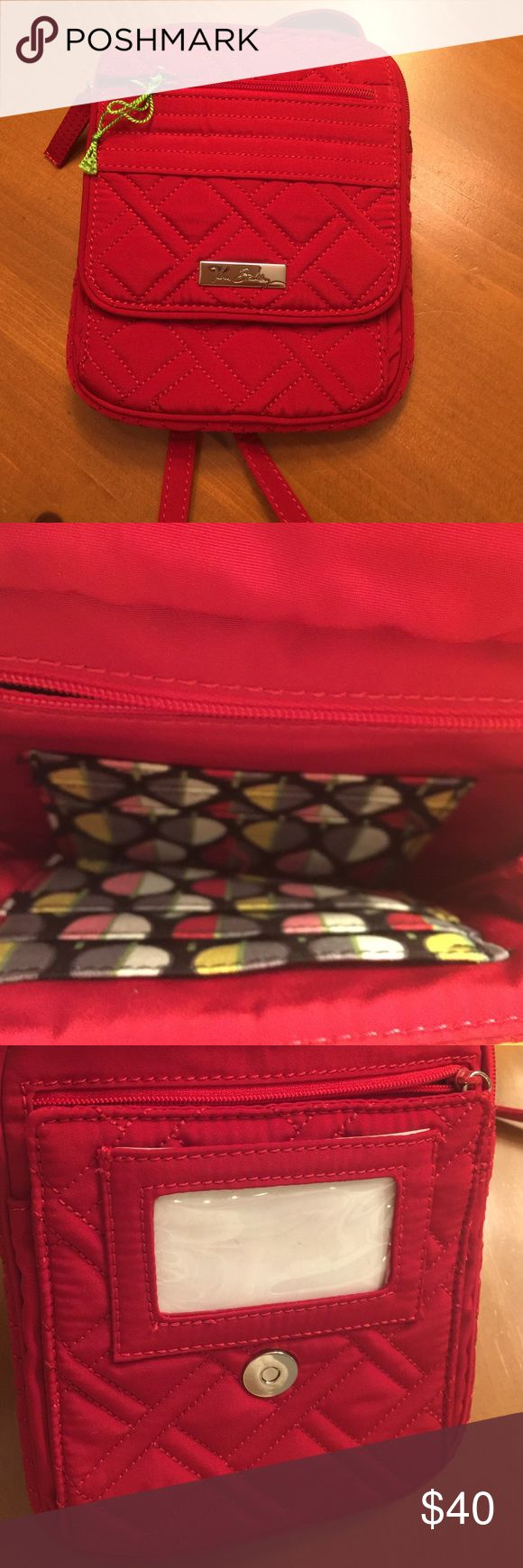 Vera Bradley Crossbody NWT Cute little Crossbody. Has multiple pockets for storage and can be used as a wallet and a bag!Bought in a Vera Bradley store. Vera Bradley Bags Crossbody Bags