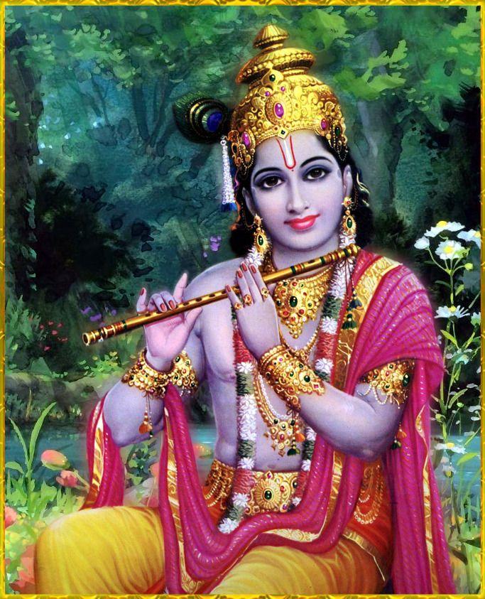 "SHRI KRISHNA GOVINDA ॐ  ""O my Lord, Shri Krishna, son of Vasudeva, O all-pervading Personality of Godhead, I offer my respectful obeisances unto You. I meditate upon Lord Shri Krishna because He is the Absolute Truth and the primeval cause of all..."