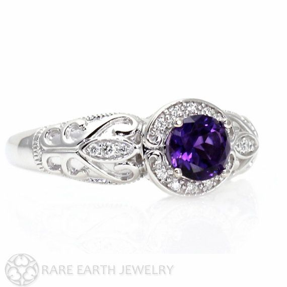Vintage Amethyst Ring Aneurysm Engagement Ring by RareEarth--I want this as my engagement ring :)