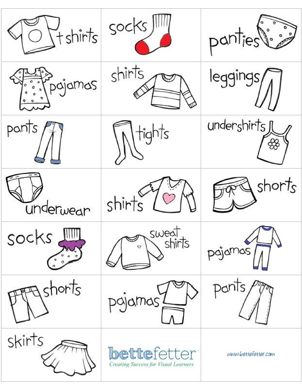 I have created some adorable labels for you or your child to put on her drawers so she can easily keep her clothes organized and maybe even help put away her own laundry. Just print them out on Avery 5360 labels and off you go.
