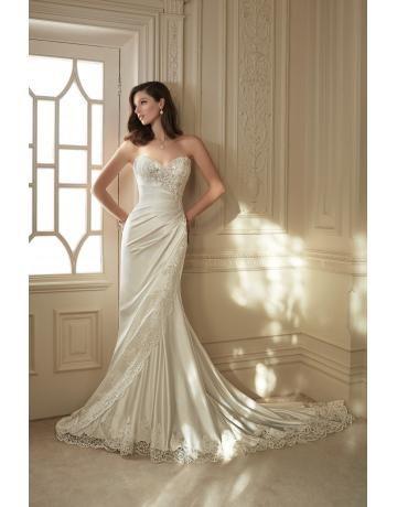 Köntös esküvői ruha ujjatlan galléros luxus szív