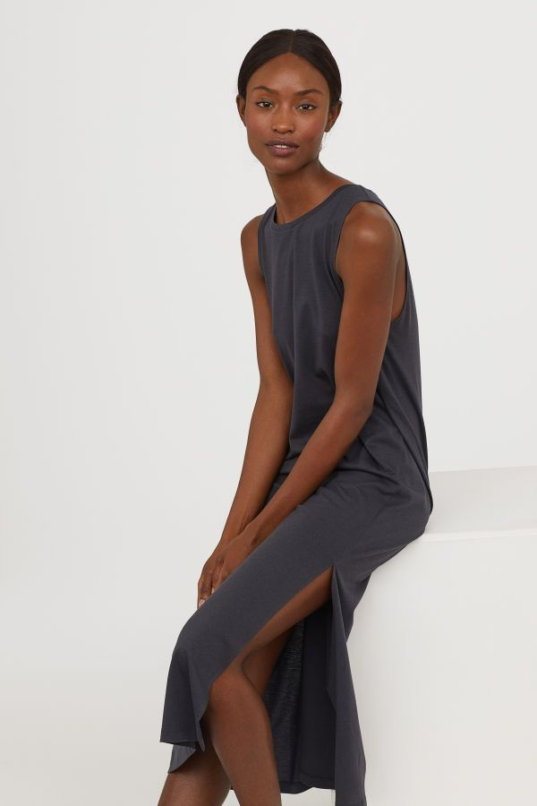 d4dfc0cf9ba6 Tank-top Dress   Dark gray   WOMEN   H&M US   Playclothes   Dresses ...