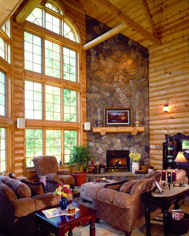 134 best images about rustic great rooms on pinterest fireplaces studio interior and cabin - Fireplaces for small spaces property ...