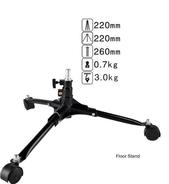 Напольная стойка NiceFoto LS-20 на колёсиках (высота 22см)
