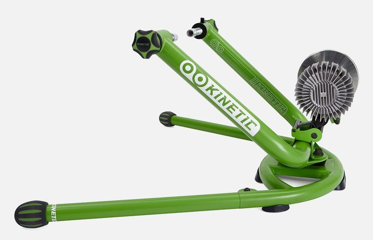Kurt Kinetic's Rock n Roll trainer pivots side to side you can stand up for a more realistic road feel.