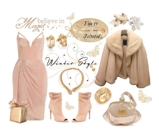 Winter Wedding by celeste-menezes on Polyvore featuring polyvore mode style Zimmermann Christian Dior Burberry Moschino Alexis Bittar Gucci Oscar de la Renta fashion clothing winterwedding
