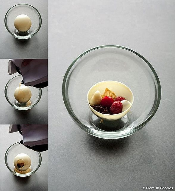 "Filip Claeys - Witte chocolade, framboos, munt ""Chartreuse"""