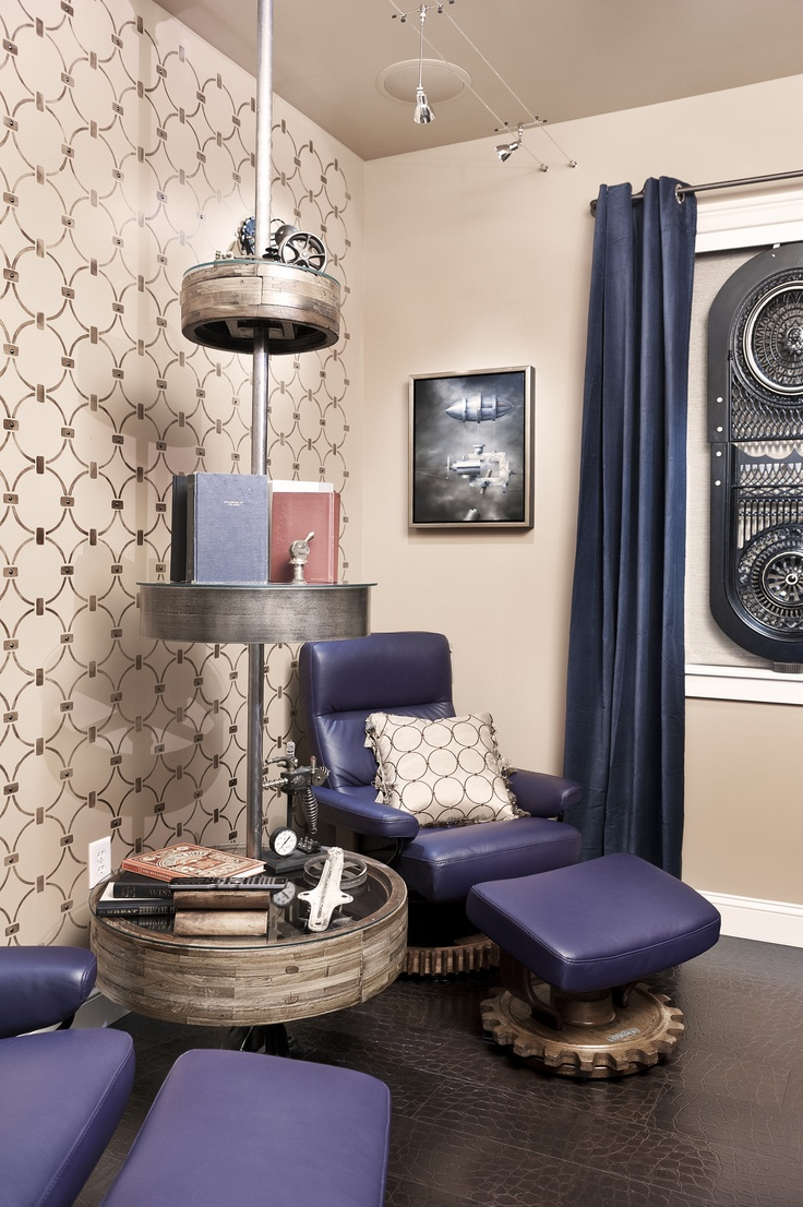 Jules Verne Room at Audio Concepts Boston Showroom Photo by Ben Gebo   Media Room DesignSteampunk ...
