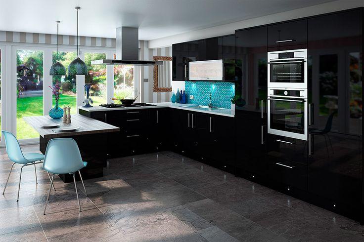 High Gloss Black Kitchens & Kitchen Units At Trade Prices - DIY Kitchens