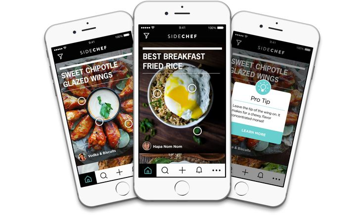 15 best recipe apps images on pinterest app apps and mobile design sidechef step by step cooking app forumfinder Choice Image