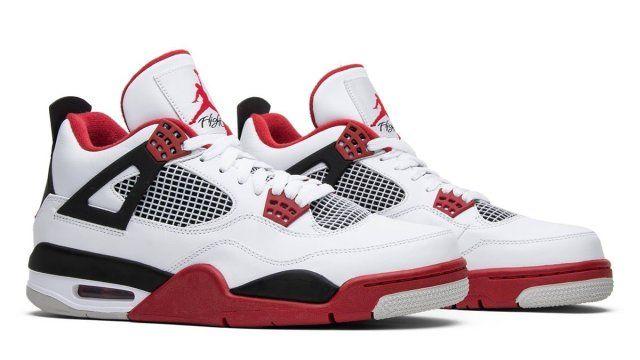 Jordan 4 Fire Red In 2020 Air Jordans Jordan 4 Red Sneakers