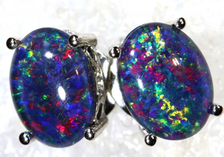 6.8 CTS TRIPLET OPAL SILVER EARRINGS OF-2143