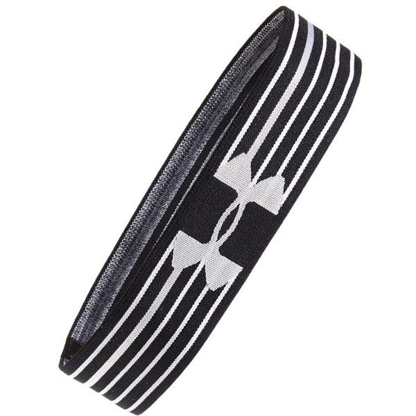Under Armour 'Elevate' Headband ($12) ❤ liked on Polyvore featuring accessories, hair accessories, black, head wrap headband, under armour, black hair accessories, wide headbands and black headband