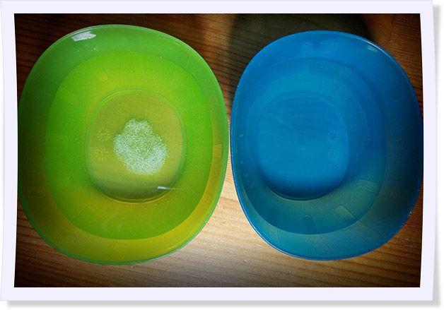 Salzwasser + Wasser ohne Salz