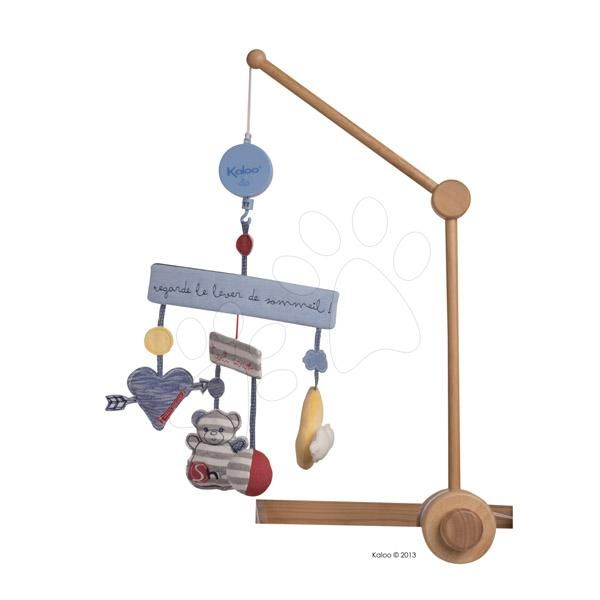 Hudební kolotoč nad postýlku Blue Denim-Musical Mobile pro nejmenší děti http://www.medvidkovehracky.cz/kaloo-960075-hudobny-kolotoc-nad-postielku-blue-denim-musical-mobile-35-cm-modry-s-drevenym-stojanom/