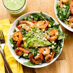 ,: Limes Dresses, Cilantro Limes, Vegans Cilantro, Summer Meals, Shrimp Salads, Tex Mex Salad, Shrimp Tex Mex, Avocado Dresses, Perfect Summer