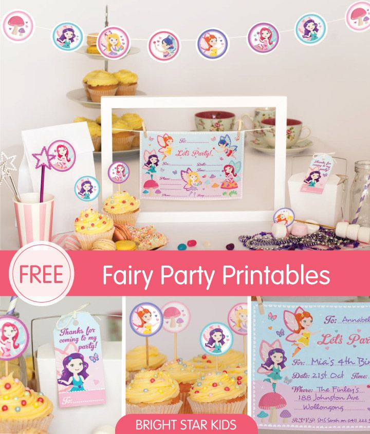 Free! Fairy Party Invitation Printables for your little girl�s birthday