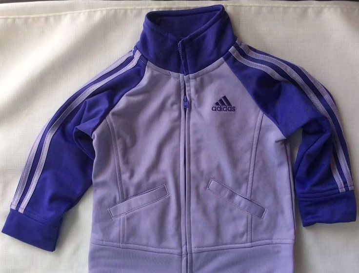 Adidas Baby Girl's Purple Track Jacket 18 Months #adidas #Jacket #adidaspurplejacket