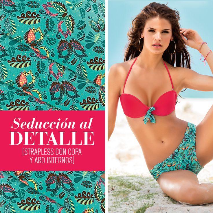 ¡Despierta los sentidos con detalles exuberantes y coloridos! #Summer #Swimwear #VeranoLeonisa2013  #PicanteColorCurvas