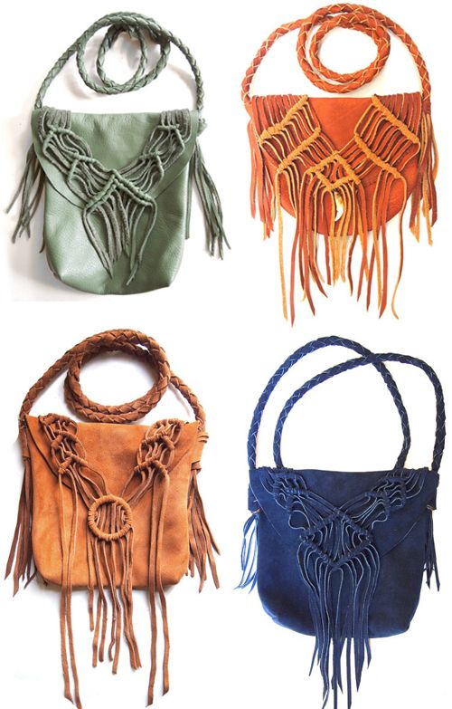 So excited to see my purses on this macrame blog! - christijay Leather Macrame Purses