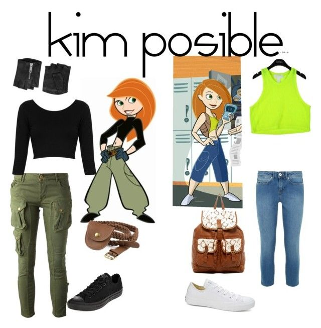 """kim possible outfits"" by moe42564 ❤ liked on Polyvore featuring CYCLE, Topshop, Converse, Friis & Company, Karl Lagerfeld, Monsoon and T-shirt & Jeans"