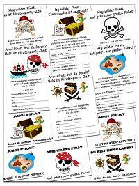 Wenn Du Ein Piratenfest Planst, Ist Es Natürlich Unverzichtbar, Dass Auch  Die Einladung Zum Kindergeburtstag Und Die Deko Zu Dem Piraten Motto Passen.
