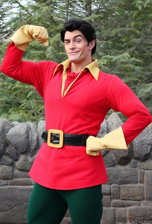 Gaston costume. I love how simple the costume is for Gaston. If you follow this picture and don't forget the boots then you will be sure to be a Gaston look alike!